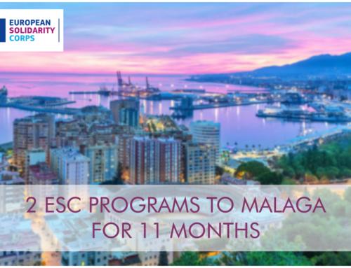 2 θέσεις εθελοντισμού στη Μάλαγα για 11 μήνες!
